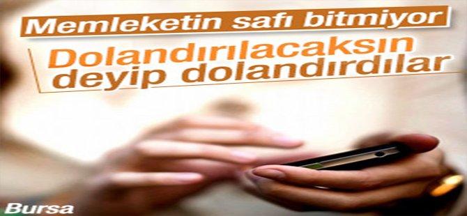 Bursa'da 16 bin liralık telefon dolandırıcılığı