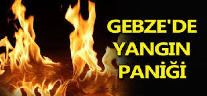 Gebze'de Yangın Paniği
