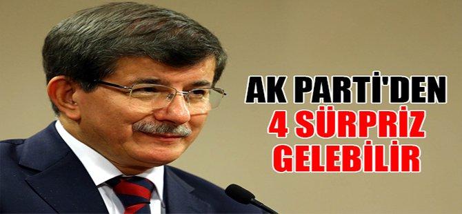 AK Parti'den 4 sürpriz gelebilir