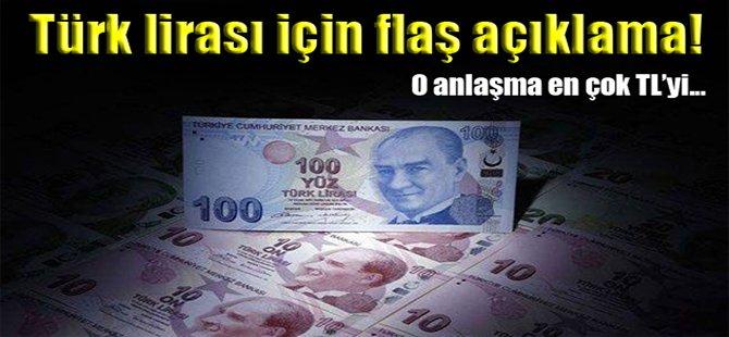 Türk lirası için flaş açıklama!