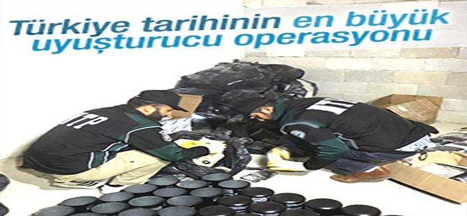 Türkiye tarihinin en büyük uyuşturucu operasyonu yapıldı