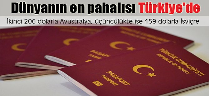 Dünyanın en pahalısı Türkiye'de