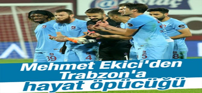 Mehmet Ekici attı, Trabzon kazandı
