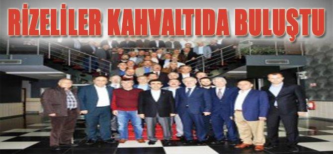 RİZELİLER KAHVALTIDA BULUŞTU