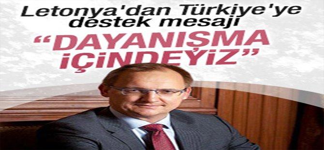 Letonya Türkiye'ye desteğini açıkladı