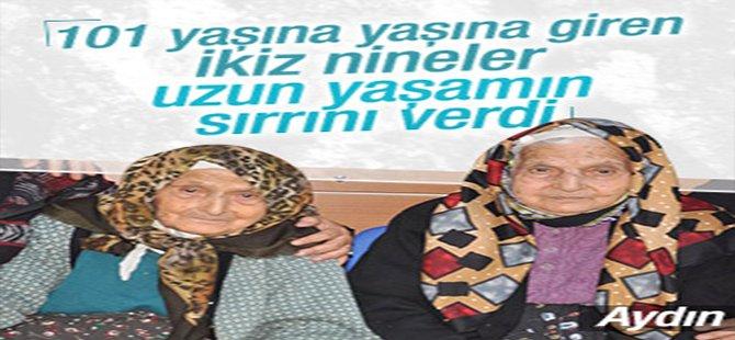 İkiz nineler 101 yaşına girdi