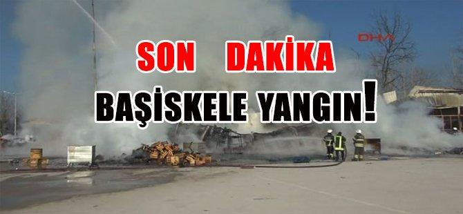 BAŞİSKELE'DE YANGIN