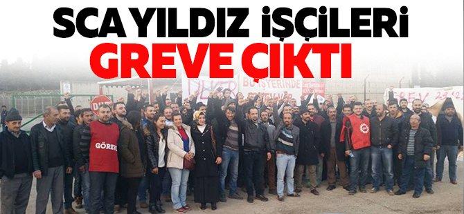 SCA Yıldız işçileri greve çıktı