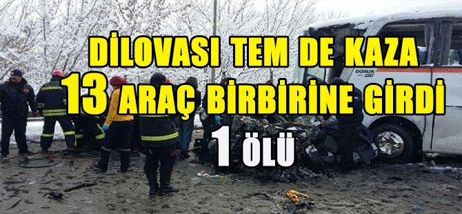 DİLOVASI TEM'de 13 araç birbirine girdi! 1 ölü