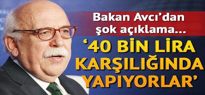 NABİ AVCI DAN ŞOK AÇIKLAMA '40 BİN LİRA KARŞILIĞINDA YAPIYORLAR'