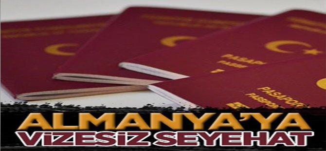 Almanya'ya vizesiz seyahat