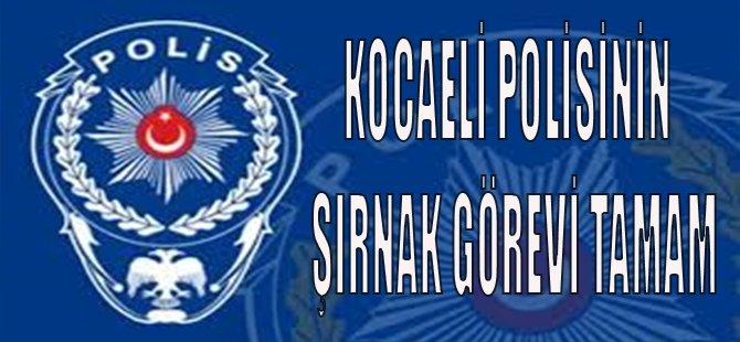 Kocaeli Polisinin Şırnak Görevi Tamam