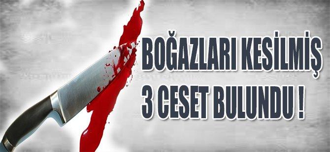 BOĞAZLARI KESİLMİŞ 3 CESET BULUNDU !