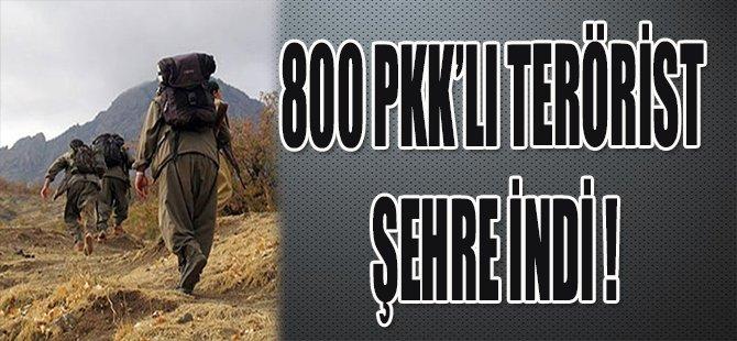 800 PKK'LI TERÖRİST ŞEHRE İNDİ !