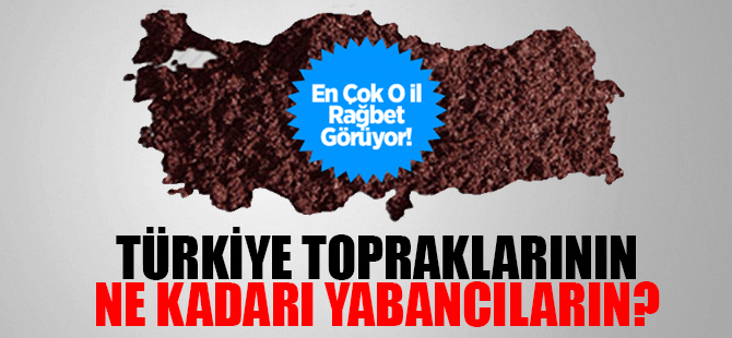 Türkiye Topraklarının Ne Kadarı Yabancıların?