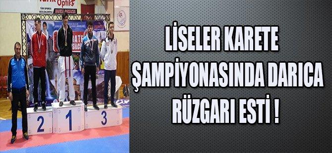 LİSELER KARATE ŞAMPİYONASINDA DARICA RÜZGARI ESTİ !