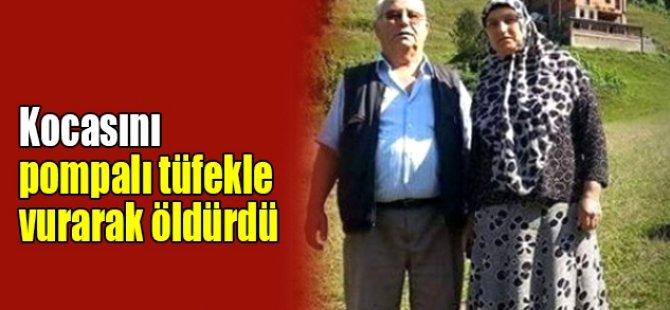 Kocasını Pompalı Tüfekle Öldürdü!