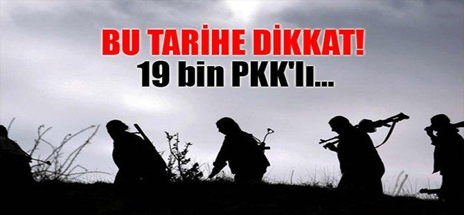 Dikkat! 19 bin PKK'lı...