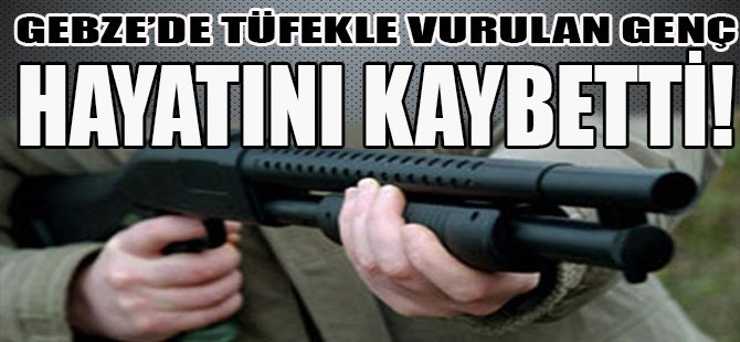 Gebze'de Tüfekle Vurulan Genç Hayatını Kaybetti!
