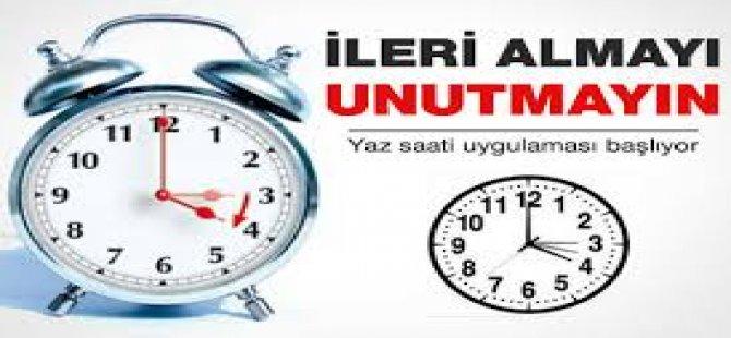 Saatlerinizi İleri Almayı Unutmayın!