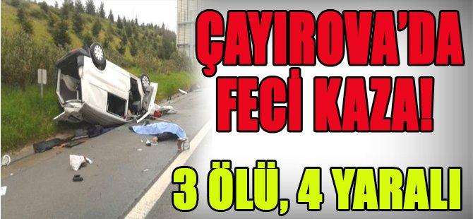 Çayırova'da Feci Kaza! 3 Ölü, 4 Yaralı
