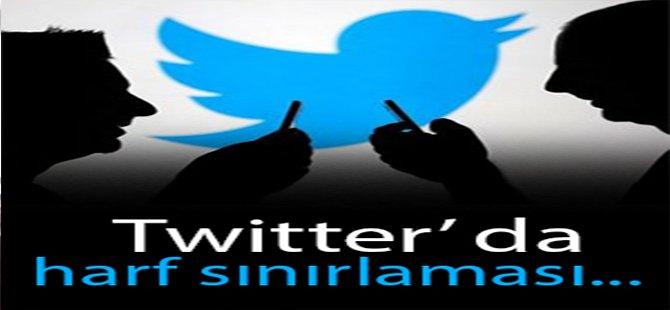 Twitter'da Harf Sınırlaması