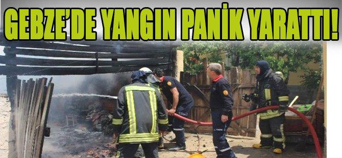 Gebze'de Yangın Panik Yarattı!