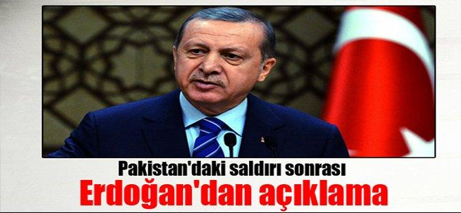 Pakistan'daki saldırı sonrası Erdoğan'dan açıklama