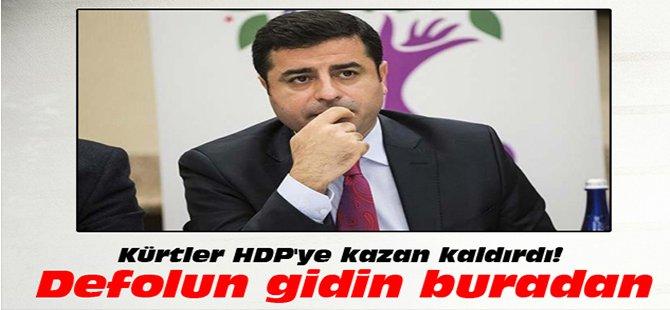 Kürtler HDP'ye kazan kaldırdı! Defolun gidin buradan