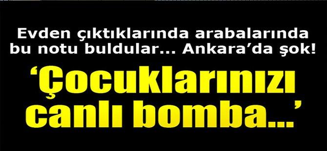 Çocuklarınızı Canlı Bomba...