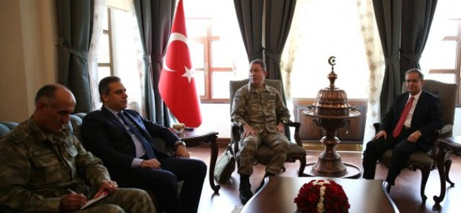 Genelkurmay Başkanı Akar ve MİT Müsteşarı Fidan Kilis'te