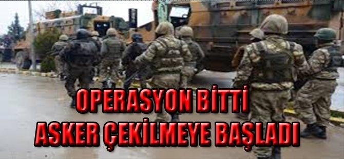 Silopi'de Operasyon Bitti, Asker Çekilmeye Başladı