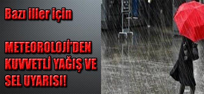 Meteoroloji'den Marmara İçin Kuvvetli Yağış Uyarısı
