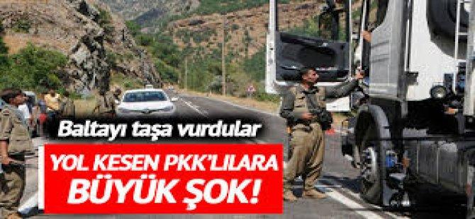 Yol Kesen PKK'lılar Baltayı Taşa Çarptı