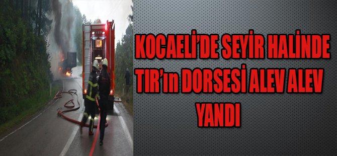 KOCAELİ'DE SEYİR HALİNDE TIR'ın DORSESİ ALEV ALEV YANDI