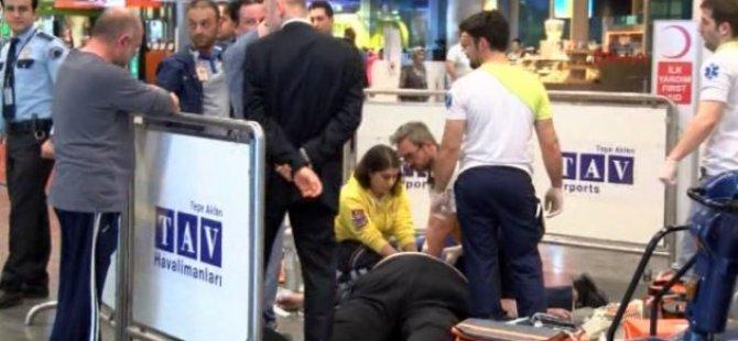 Atatürk Havalimanı'nda Kalbine Yenik Düştü