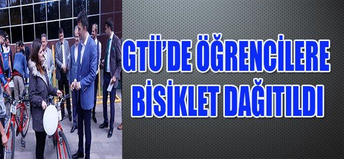 GTÜ'de Öğrencilere Bisiklet Dağıtıldı