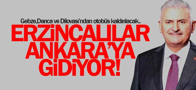 Erzincanlılar Ankara'ya gidiyor