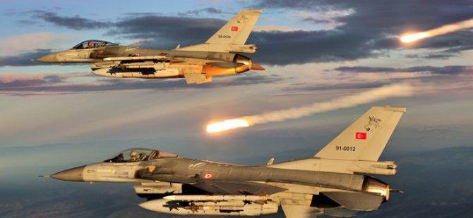 TSK Kuzey Irak'a Hava Harekatı Düzenledi