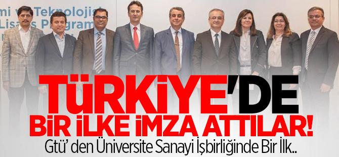 GTÜ Türkiye'de bir ilke imza attılar