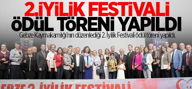 İyilik festivali ödül töreni yapıldı