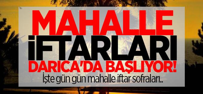 Mahalle iftarları Darıca'da başlıyor