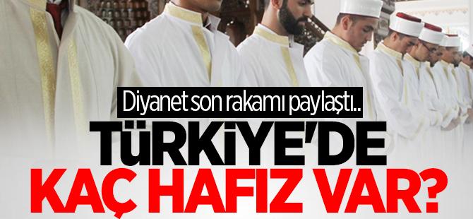 Türkiye'de 121 bin tane hafız var