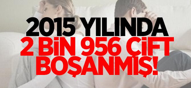2015'te 2 Bin 956 çift boşanmış