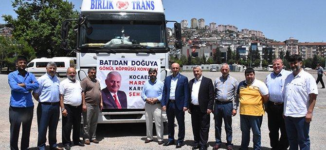 Kocaeli'den Mardin'e 15 TIR dolusu yardım