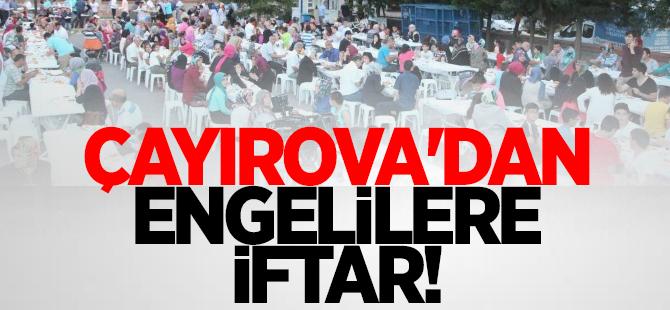 Çayırova'da engelli vatandaşlarla iftar