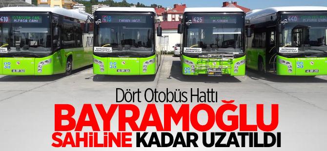 Bayramoğlu sahiline kadar uzatıldı