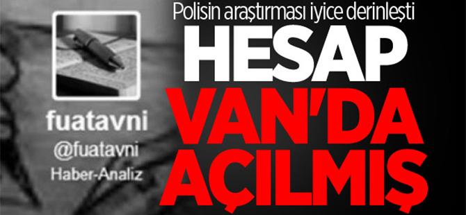 Fuat Avni twitter hesabı Van'da açılmış
