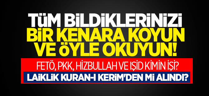 Laiklik Kur'an'ı Kerim'den mi alındı?