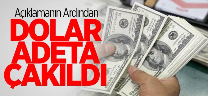 Açıklamanın ardından dolar adeta çakıldı